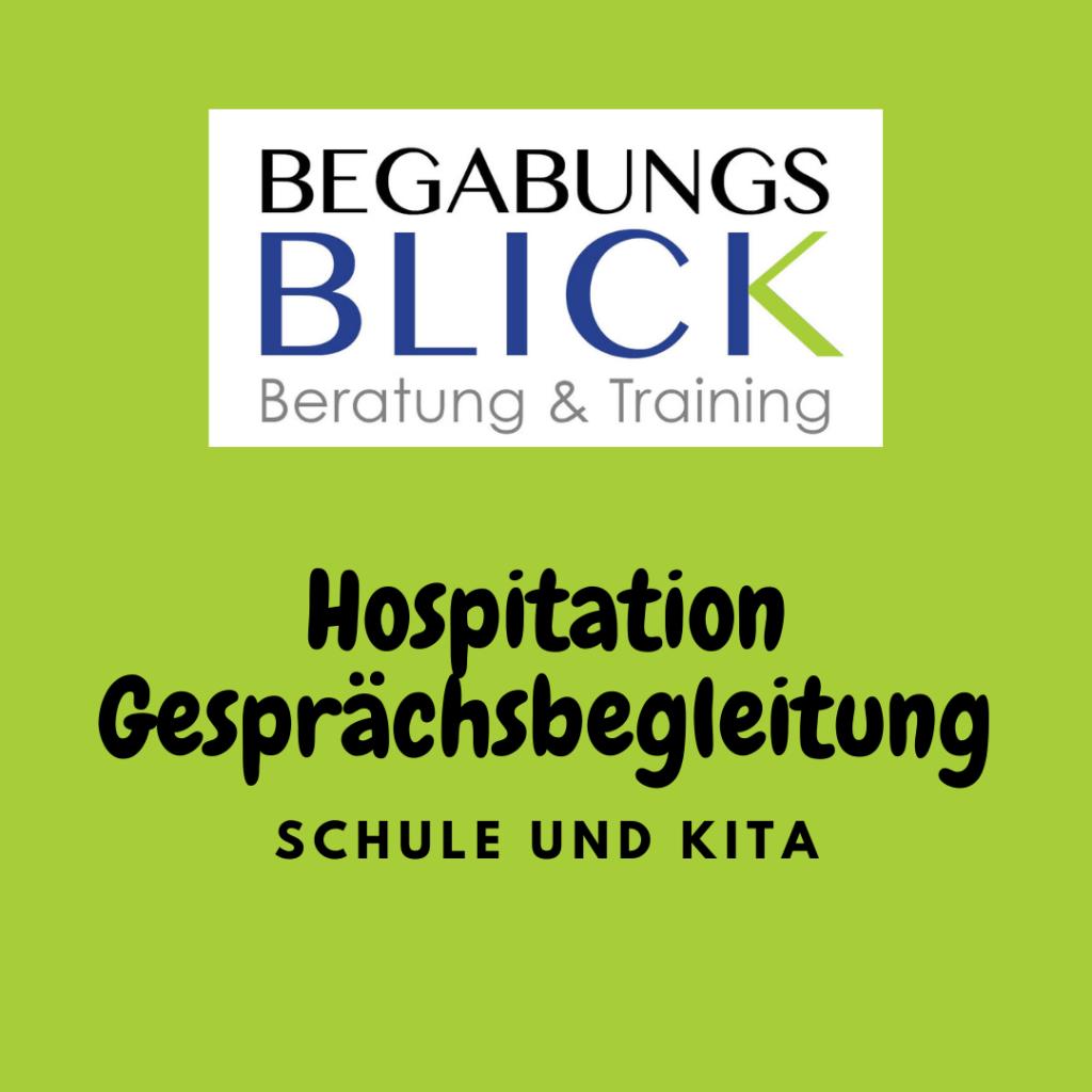 Hospitation und Gesprächsbegleitung in der Schule und Kita