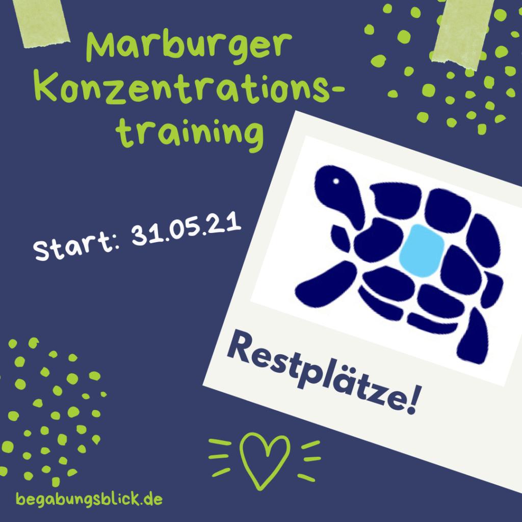 Marburger Konzentrationstraining Restplätze sei dabei! Anstrengungsbereitschaft, Selbstwertgefühl, Struktur und mehr für Hochbegabte.